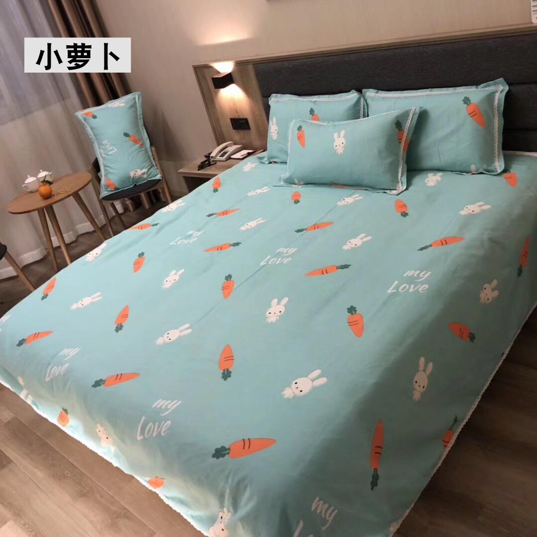 75.00元包邮可机洗纯棉老粗布凉席三件套夏季床单裸睡亲肤1.5m1.8米床上用品