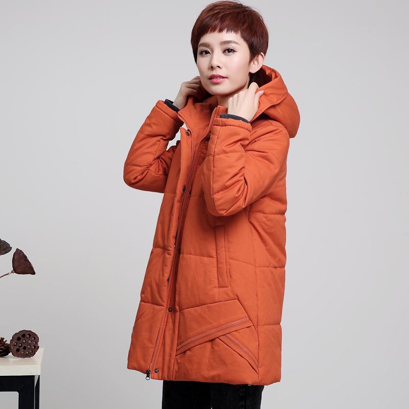 冬季新款中老年女装棉衣加肥加大中年妈妈装长款加厚加宽棉服外套