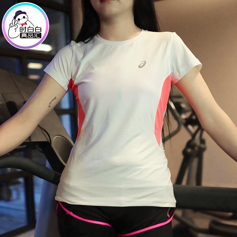 夏季韩国专柜正品亚瑟士asics女士运动速干衣透气显瘦短袖跑步T恤
