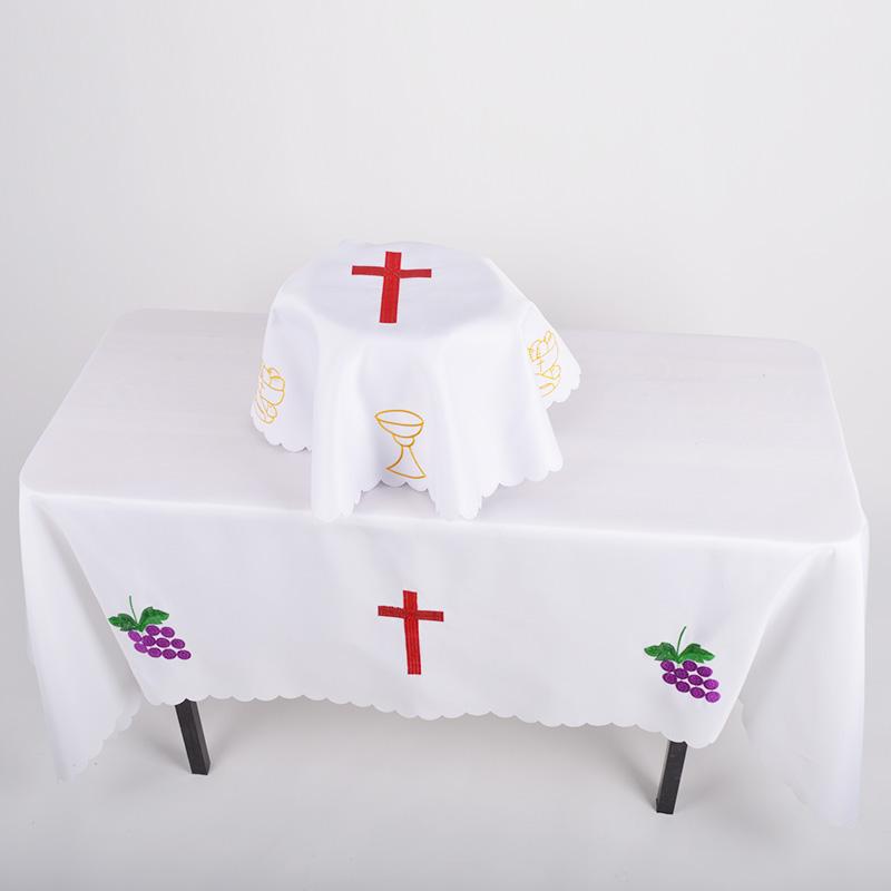 Христианская крошка Святая скатерть Христа Иисус Христос Священный стол Монгольская святая посуда Мюб Пылевая ткань Святая посуда накладка
