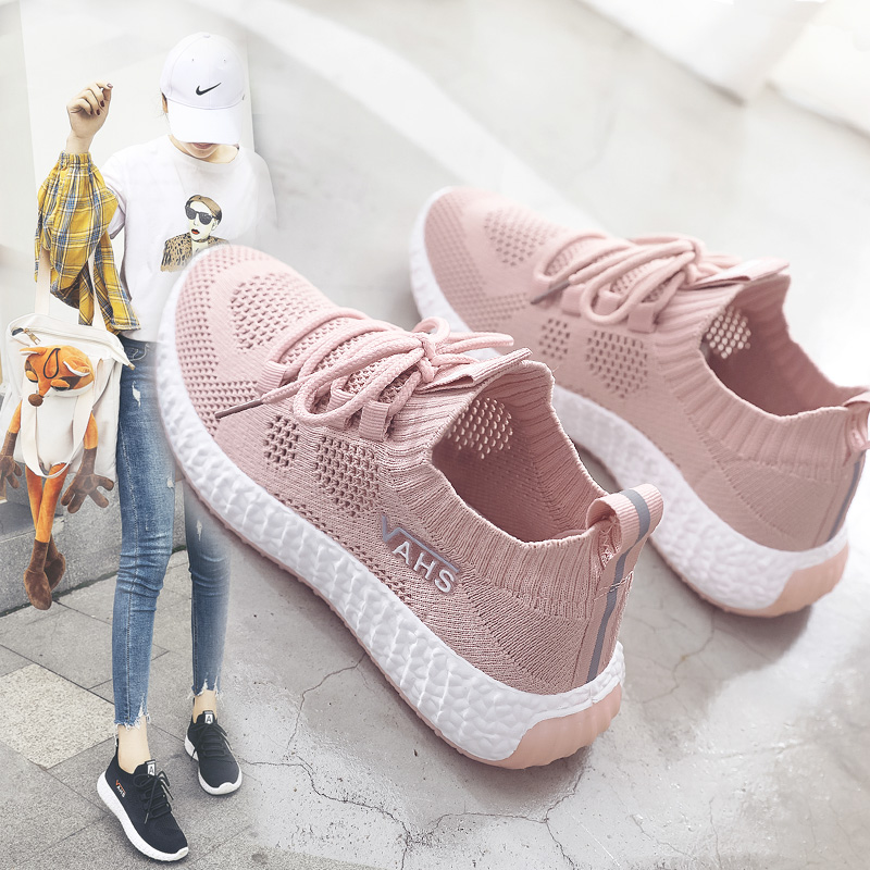 Womens shoes 2020 new summer single shoes versatile flat bottom net shoes womens breathable hollow summer net top small white sports shoes