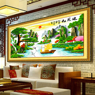 Welcome Song stitch printing wealth Version 2 Maize line stitch substantial new living room landscape series szx