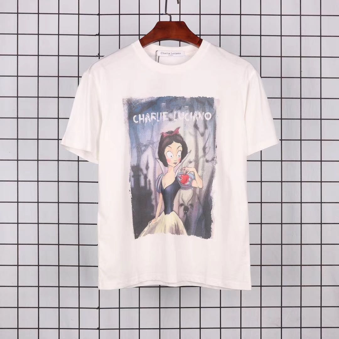 Charlie Luciano 19ss 白雪公主印花短袖