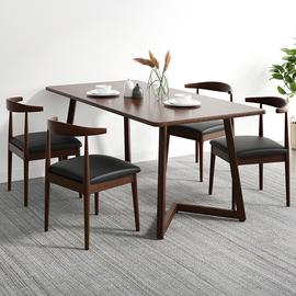 餐桌家用小户型桌子餐厅吃饭桌简约现代桌椅组合北欧轻奢小桌子图片