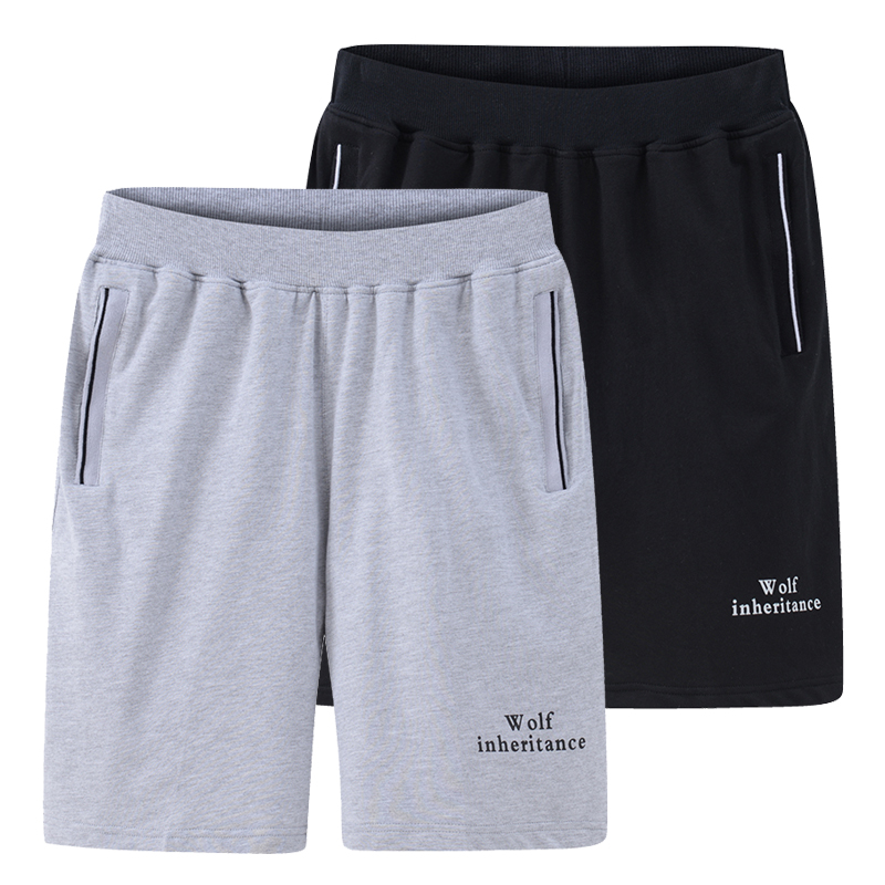 Mens summer sports shorts full cotton loose thin beach pants