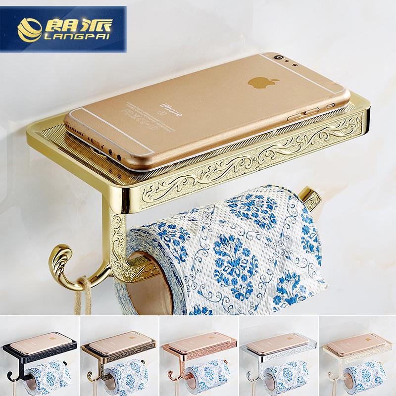 歐式手機紙巾架衛生間紙巾盒仿古衛生紙盒卷紙架廁紙架廁所手紙盒