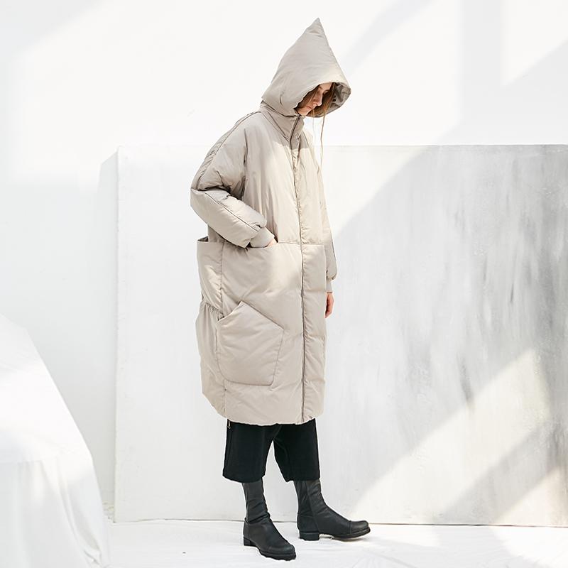 花树果原创设计女装[猜想]2020新款加厚宽松时尚羽绒服女冬中长款