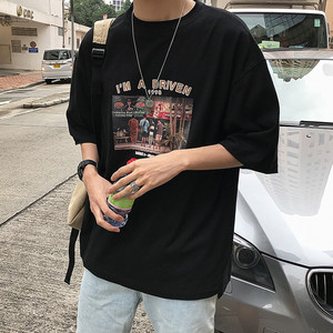 短袖t恤男潮牌潮流2020新款网红丅恤宽松舒适超火cec个性ins夏装