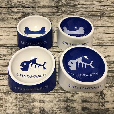 萌獸陶瓷寵物食具貓碗狗碗貓盆狗盆寵物碗寵物陶瓷碗用品食水糧碗