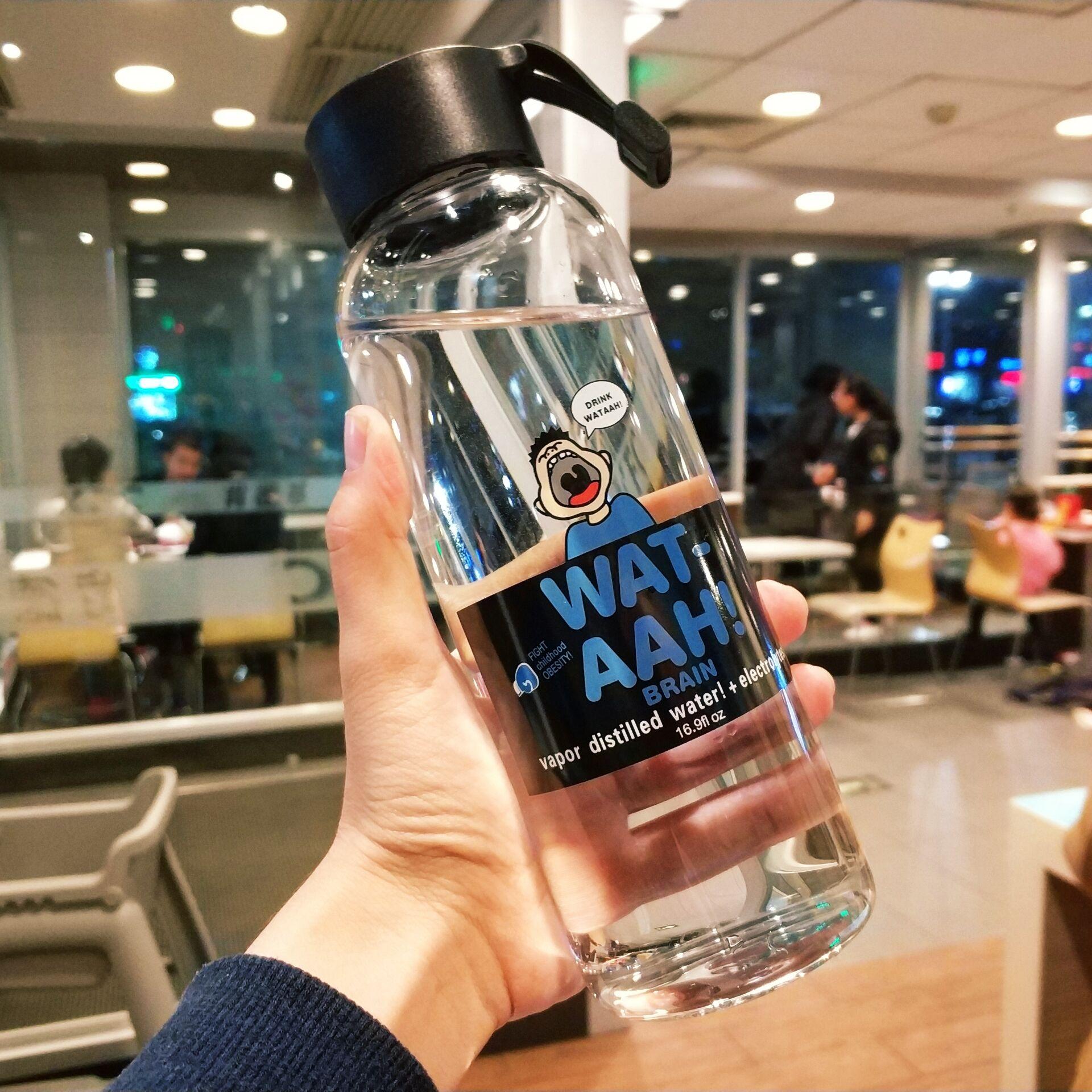 韩国原宿杯子女学生韩版清新网红水杯ins便携男个性创意玻璃随手