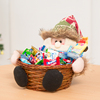 Christmas decorations candy fruit basket candy gift box safe box counter desk ornaments scene layout