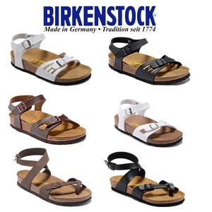 领10元券购买Birkenstock 德国勃肯凉拖女鞋真皮包头夏休闲交叉绑带软木凉拖鞋