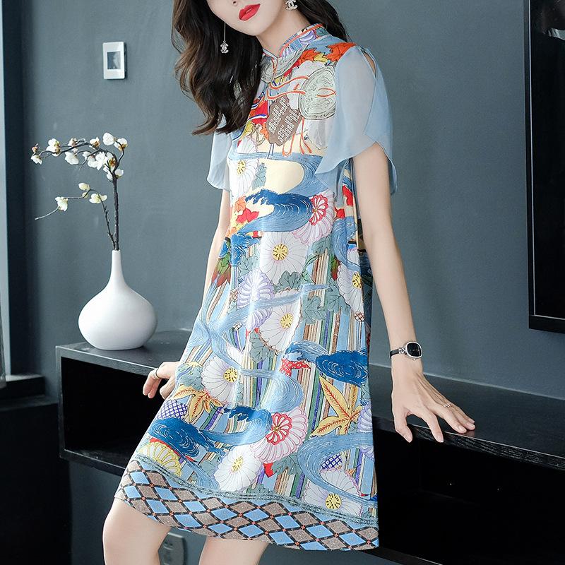 改良旗袍中国风年轻款气质夏连衣裙11-06新券