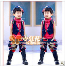 Boys jazz modern dance costumes dance clothes suit children Rimula hip hop clothing performance clothing New Year Clearance