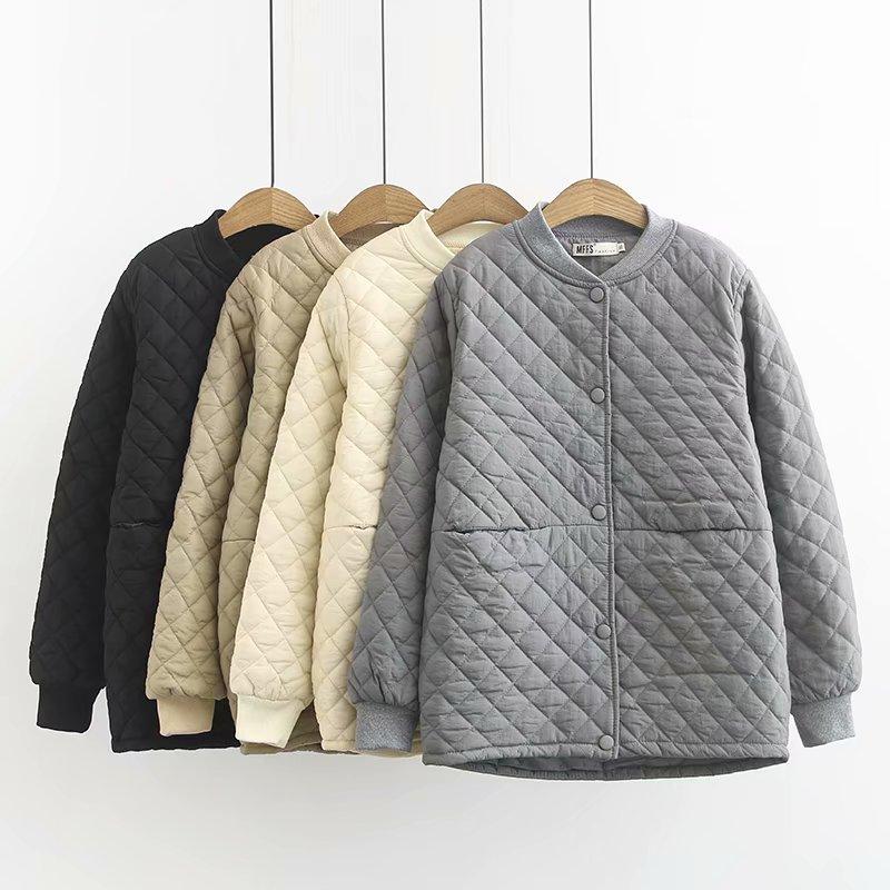 大码女装冬季棉服女胖妹妹棉衣加肥加大200斤mm宽松短款棉袄外套图片
