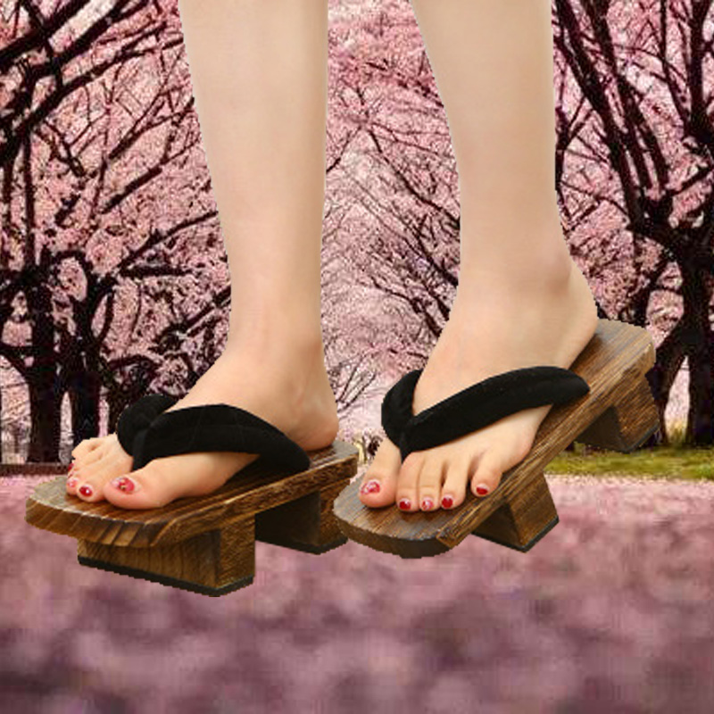 Tomorrows Ark Cosplay accessories female Yin Yang teacher cos clothing shoes Japanese lovers two tooth clogs slippers