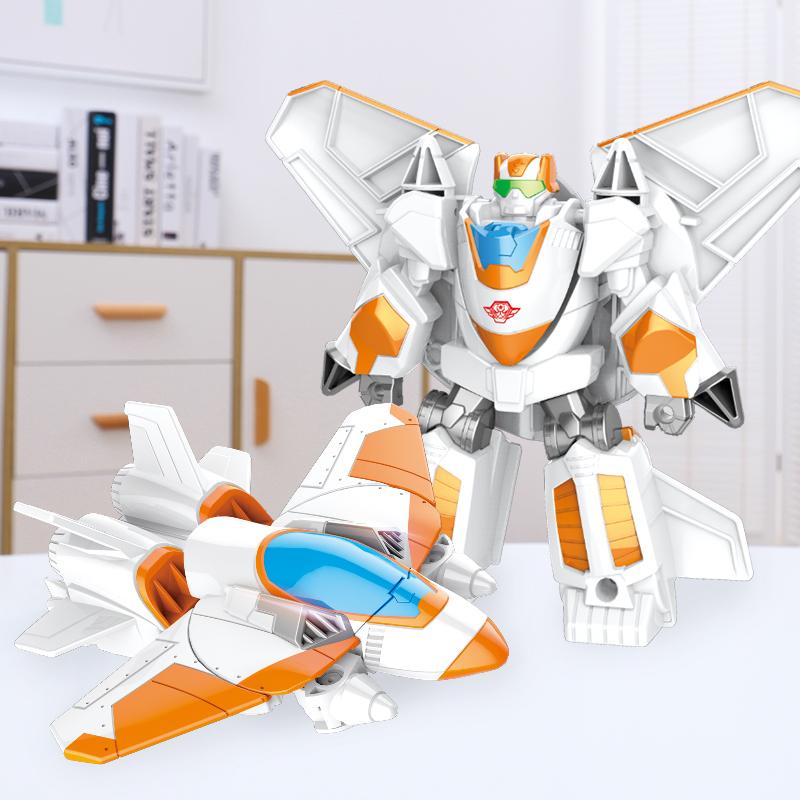 满49.00元可用26.1元优惠券糖米 合金一步变形玩具5红蜘蛛大黄蜂机器人金刚飞机模型正版男孩