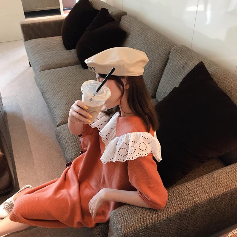 热销55件限时2件3折miss阮阮2019初秋新款韩版短袖毛衣