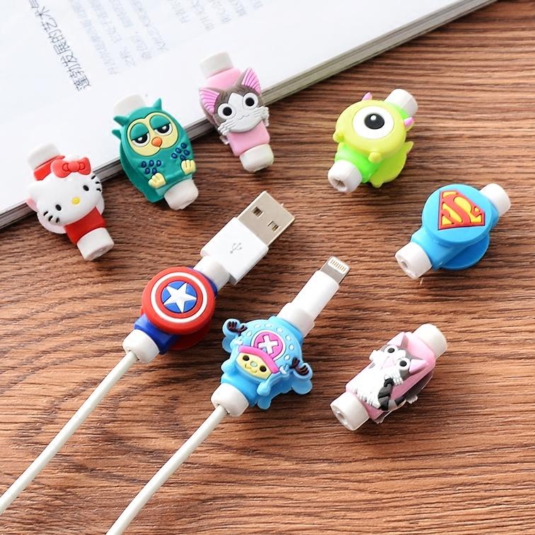 苹果手机数据线保护套 韩国创意可爱卡通耳机充电线防断裂保护器