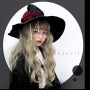 ruby rabbit【预约】魔女巡游 原创lolita丝绒女巫帽子万圣节宽檐