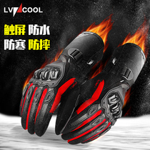 Winter Motorcycle Gloves Male thickening warm waterproof windproof cold anti-fall Knight riding equipment locomotive Gloves