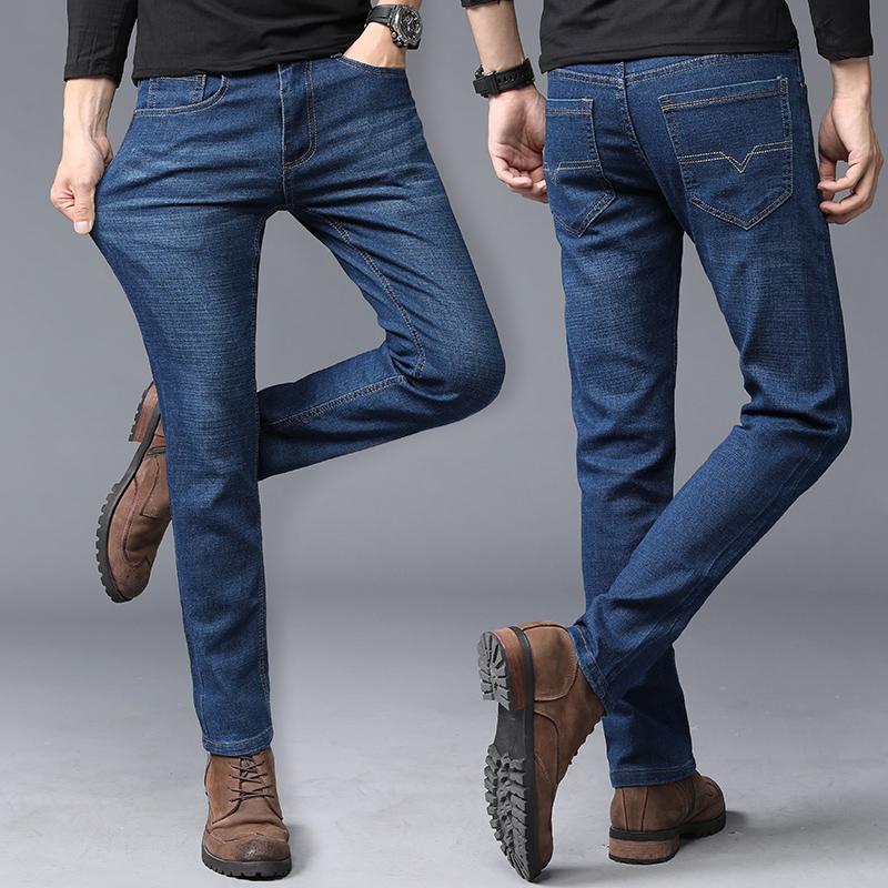 男士牛仔裤修身夏季薄款2018新款夏天韩版潮流超薄浅色休闲长裤子