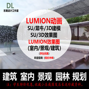 lumion动画代做效果图渲染su建模代做3d效果图代做家装室内建筑