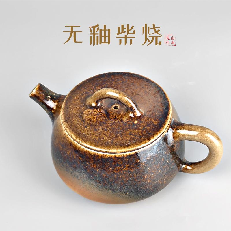 建水柴烧瑕疵壶云南纯手工传统自然落灰工艺茶壶捡漏复古功夫茶具