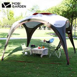牧高笛户外家庭公园野外露营防雨通气大空间天幕凉亭聚会帐篷前庭