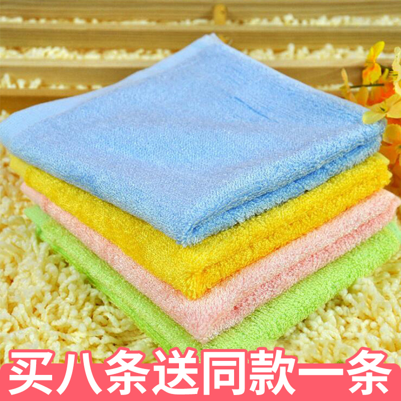 Bamboo fiber small square towel thickened increase antibacterial skin care super absorbent children towel baby handkerchief 8 Pack