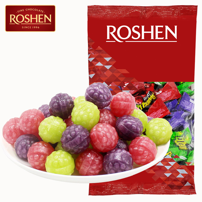 Rusheng peppinezzz imported candy mixed with fruit flavor sour candy 900g sandwich hard candy wedding candy