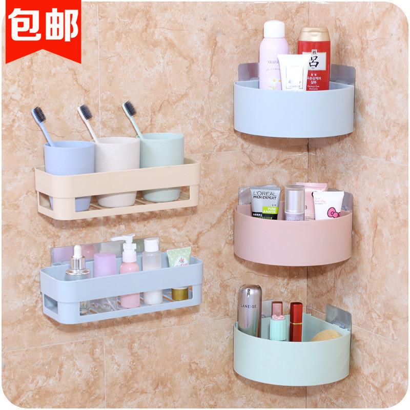 置物架卫生间壁挂免打孔洗手间厕所浴室洗漱台卫浴洗浴用品收纳架