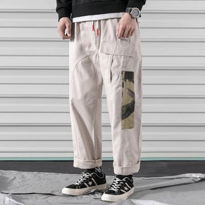 卷帘门2019春季拼迷彩大码工装裤长裤QT5070-K22-P65