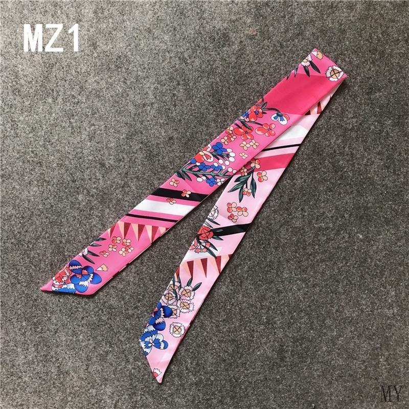 Womens decorative bag with striped flowers shawl, scarf, narrow ribbon, bag handle, silk scarf