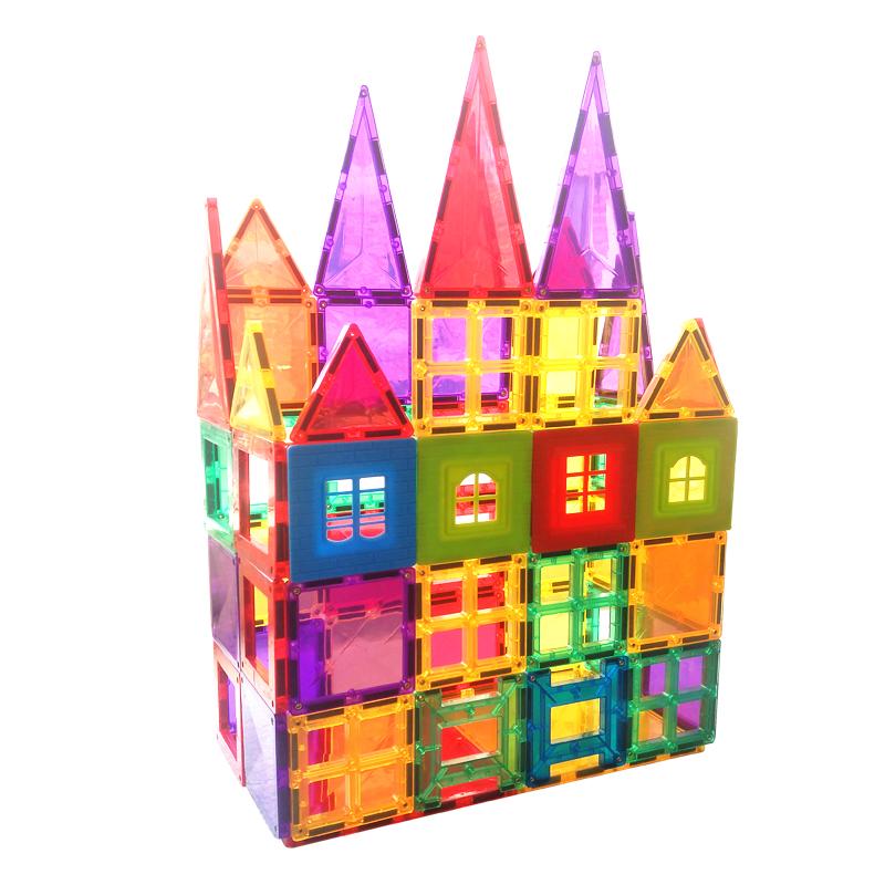 满27.40元可用1元优惠券二代彩窗磁力片儿童益智玩具积木