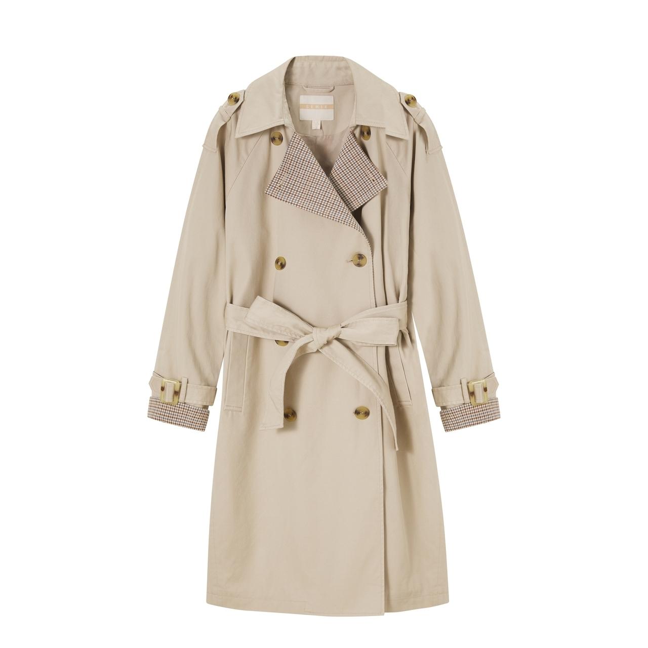 森马风衣女中长款2021春季新款小个子卡其色外套英伦气质女装大衣