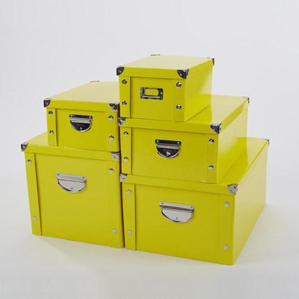 新品糖果色纸质收纳盒衣物收纳箱