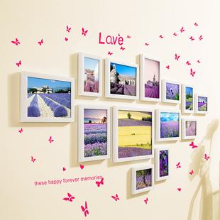 13框客厅小清新照片墙装饰 相框墙组合相片墙创意卧室挂墙画框