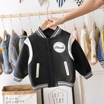 男童皮衣外套2021年新款春秋装儿童洋气韩版夹克宝宝棒球服帅气潮