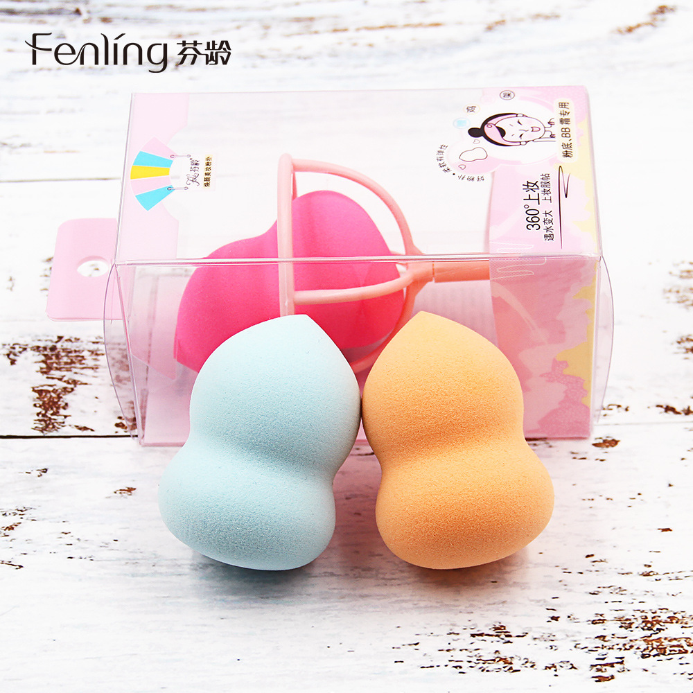 Beauty tools, Fenton, dry and wet, gourd powder puff, water droplet, beveling, makeup sponge, foundation, cosmetic egg bracket.