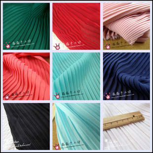 Multicolor into pleated chiffon pleated fabric type color organ pleated chiffon dress fabric crushed Specials