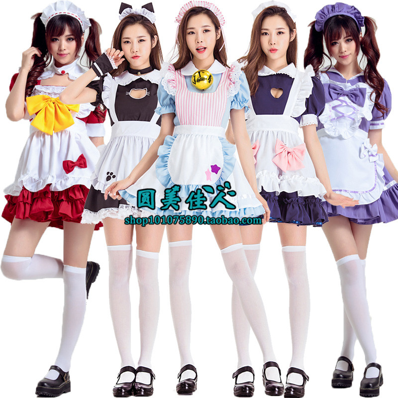 Halloween cos Costume Adult maid maid Party Princess Alice dress annual meeting Costume