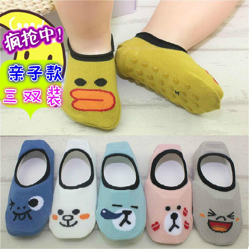 宝宝地板袜夏季薄款 全棉点胶防滑底婴儿学步袜 男女儿童室内袜套