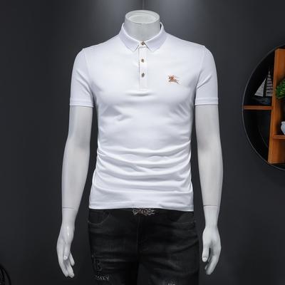 2021男士双丝光棉翻领POLO衫刺绣 货号66009 P85 控价168
