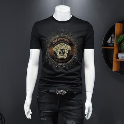 2021男士双丝光棉短袖体恤个性刺绣短袖 货号66210 P60 控价118