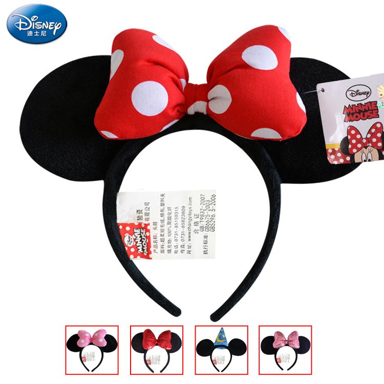 (用1元券)迪士尼发箍女热卖米妮米老鼠头箍迪斯尼头饰发卡兔耳朵米奇发箍
