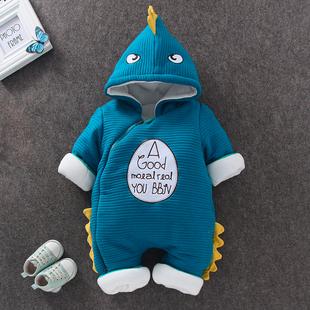 天天特價新生兒衣服冬季連體衣冬裝寶寶服外出抱衣加棉加厚嬰兒服