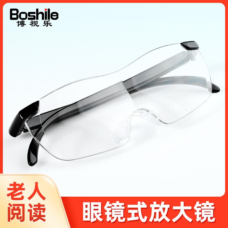头戴式放大镜老年人阅读高清看书