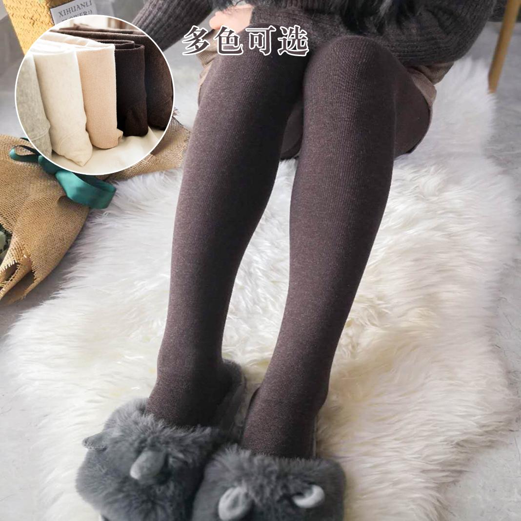 Limited quantity of 200g dragon claw wool pantyhose womens medium thick Plush Brown silk stockings thin velvet pantyhose