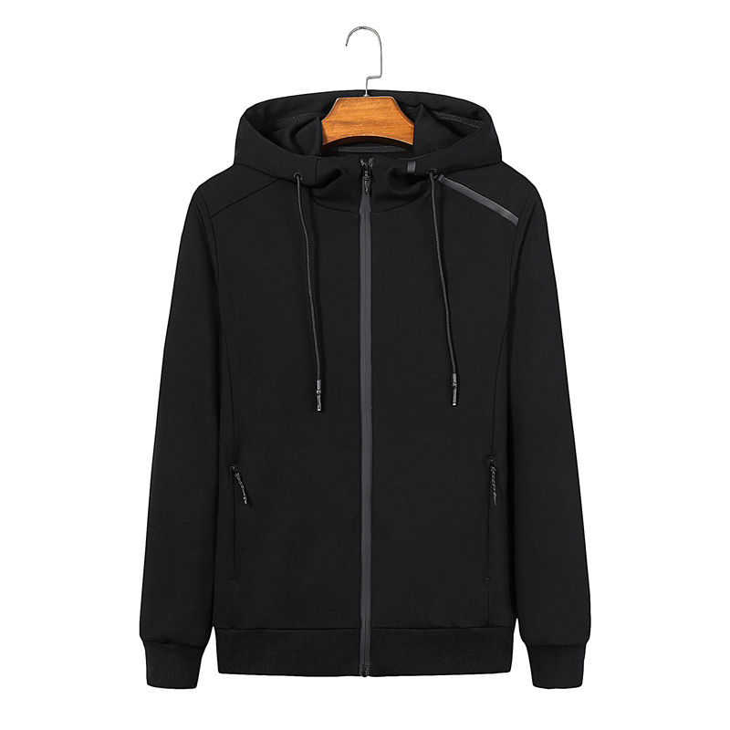 Autumn big mens jacket coat fat man sports pure cotton sweater fat man fatter and thinner Hoodie